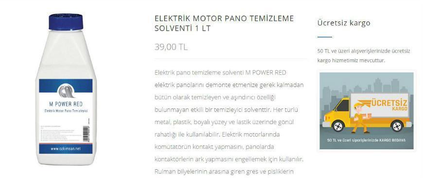 Elektrik Pano Temizleme Sıvısı